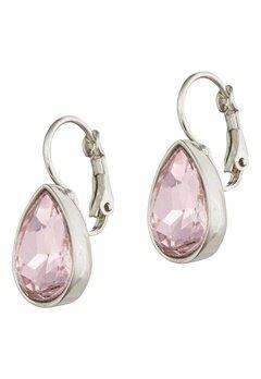 BY JOLIMA Tear Drop Earring Light Rose Silver Bubbleroom.eu