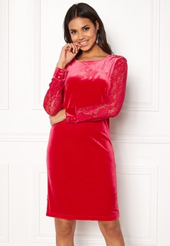 b.young Urbana Dress Crimson Red Bubbleroom.eu