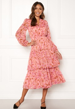 byTiMo Chiffon Layered Dress 876 Pink Garden Bubbleroom.eu