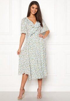 byTiMo Openback Midi Wrap Dress 856 Sunflower Bubbleroom.eu