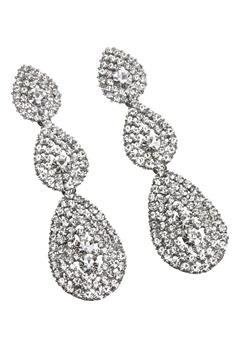 Love Rocks Byzanine Pave Earring Silver Colour Bubbleroom.eu