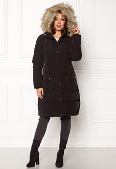 VILA California Down Coat Black Bubbleroom.eu