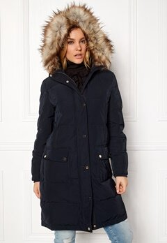 VILA California Down Coat Dark Navy Bubbleroom.eu