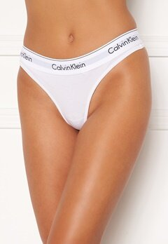 Calvin Klein CK Cotton Thong 100 White Bubbleroom.eu