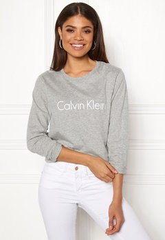 Calvin Klein CK L/S Crew Neck Grey Heather Bubbleroom.eu