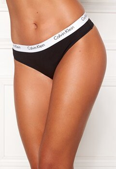 Calvin Klein CK One Cotton Thong Black Bubbleroom.eu