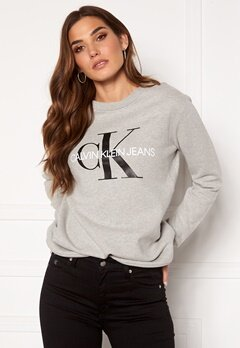 Calvin Klein Jeans Core Monogram Logo Sweatshirt 038 L Grey Heather Bubbleroom.eu