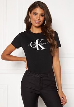 Calvin Klein Jeans Monogram Regular Fit Tee 099 CK Black Bubbleroom.eu