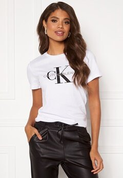 Calvin Klein Jeans Monogram Regular Fit Tee 112 Bright White Bubbleroom.eu