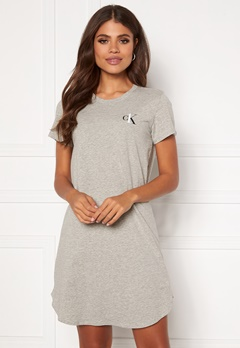 Calvin Klein S/S Nightshirt 020 Grey Heather Bubbleroom.eu
