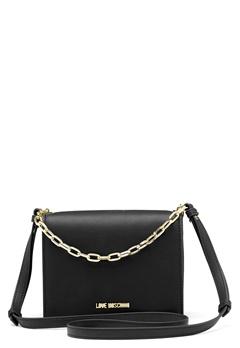 Love Moschino Chain Crossbody Bag 00B Black/Gold Bubbleroom.eu