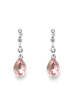 SNÖ of Sweden Charlene Long Earring S/Pink Bubbleroom.eu
