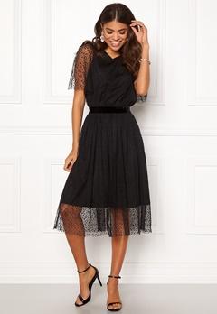 Y.A.S Charlotte SS Midi Dress Black Bubbleroom.eu