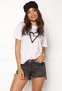 CHEAP MONDAY Breeze Tee White Bubbleroom.eu