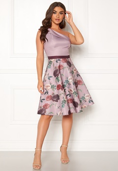 Chi Chi London Ardelle Floral Dress Mink Bubbleroom.eu
