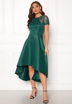 Chi Chi London Rachel High low Dress Emerald Bubbleroom.eu