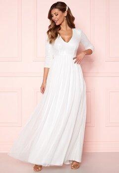 Chiara Forthi Admirante sparkling gown White Bubbleroom.eu