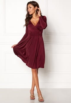 Chiara Forthi Allura Dress Maroon Bubbleroom.eu