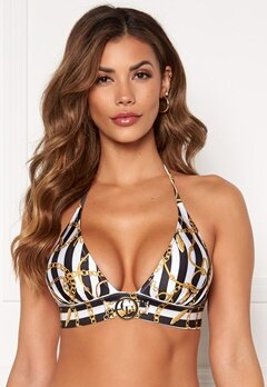Chiara Forthi Arcola bikini bra Striped / Black / Gold Bubbleroom.eu
