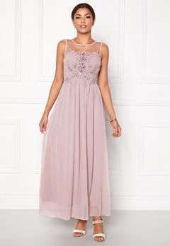 Chiara Forthi Ariana Embellished Dress Dusty pink Bubbleroom.eu