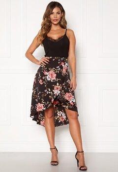 Chiara Forthi Arona wrap skirt Black / Pink / Floral Bubbleroom.eu