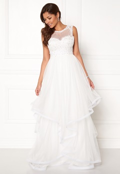 Chiara Forthi Aurora tulle gown White Bubbleroom.eu