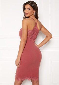 Chiara Forthi Bexy lace dress Dusty pink Bubbleroom.eu