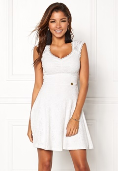 Chiara Forthi Biana Lace Dress White Bubbleroom.eu