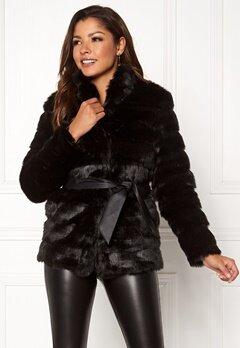 Chiara Forthi Bologna Faux Fur Jacket Black Bubbleroom.eu