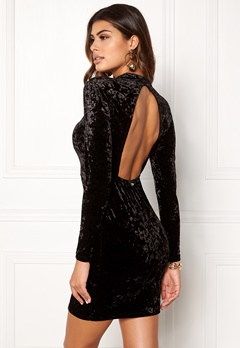 Chiara Forthi Brushed Velvet Dress Black Bubbleroom.eu