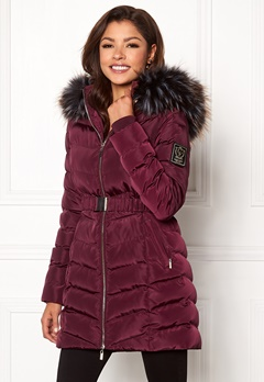 Chiara Forthi Campitello Padded Jacket Dark wine-red Bubbleroom.eu