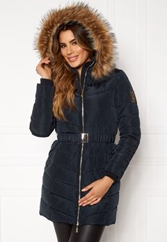 Chiara Forthi Campitello Padded Jacket Navy Bubbleroom.eu