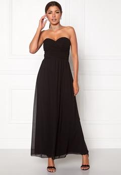 Chiara Forthi Cascade Bandeau Dress Black Bubbleroom.eu