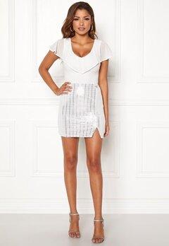 Chiara Forthi Celebrity skirt White / Silver Bubbleroom.eu