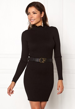 Chiara Forthi Cecile knitted dress Black Bubbleroom.eu