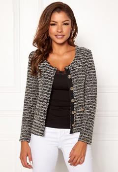 Chiara Forthi Charlize jersey jacket Black / Offwhite Bubbleroom.eu