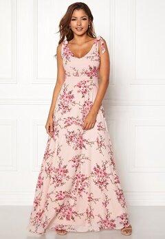 Chiara Forthi Cherie tie dress Light pink / Floral Bubbleroom.eu