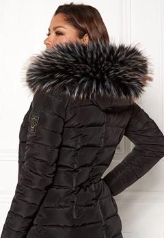 Chiara Forthi Chiara Faux Fur Collar Black / White / Brown Bubbleroom.eu