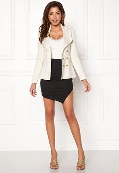 Chiara Forthi Chiara Heavy Knit Blazer Antique white Bubbleroom.eu