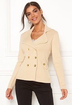 Chiara Forthi Chiara Heavy Knit Blazer Light beige Bubbleroom.eu