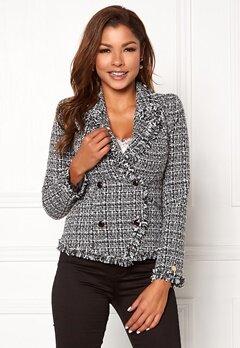 Chiara Forthi Cici bouclé jacket Black / Offwhite Bubbleroom.eu