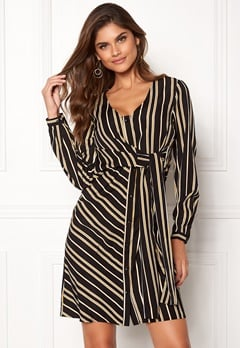 Chiara Forthi Connie shirt dress Black / Yellow / Striped Bubbleroom.eu
