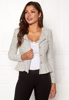 Chiara Forthi Crystalina peplum jacket Offwhite Bubbleroom.eu