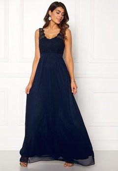 Chiara Forthi Daisy gown Dark blue Bubbleroom.eu