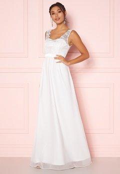 Chiara Forthi Daisy satin gown White Bubbleroom.eu