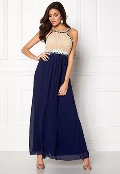 Chiara Forthi Dalilah Embellished Dress Beige / Blue Bubbleroom.eu
