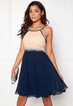 Chiara Forthi Dalilah Short Dress Beige Bubbleroom.eu