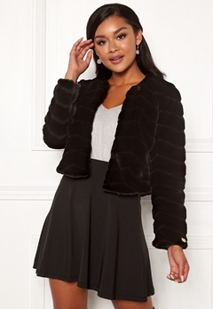 Chiara Forthi Diva party faux fur Black Bubbleroom.eu