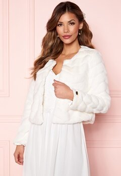 Chiara Forthi Diva short party faux fur Offwhite Bubbleroom.eu