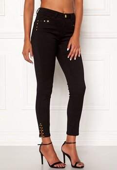 Chiara Forthi Donatella studded slit pants Black Bubbleroom.eu